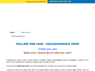 Collari per Cani | Aquazoomania Shop