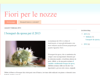Blog bouquet per sposa