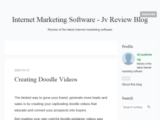 Internet Marketing Software - JV Review Blog