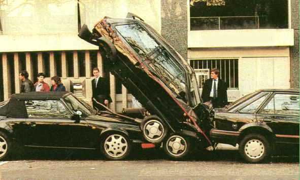 Incidente durante il parcheggio