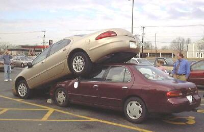 In amaerica hanno la mania dei parcheggi pericolosi