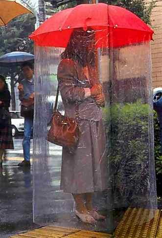 Per non bagnarsi sotto la pioggia