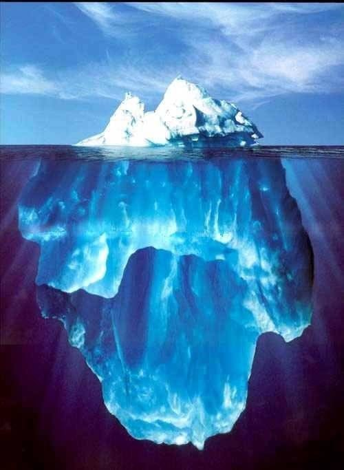La punta  è solo una piccola dell'Iceberg