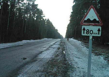 Strada disconnessa per 80Km