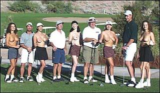 Foto ricordo sexy del golf club