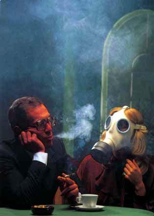 Divieto di fumare e maschera antifumo