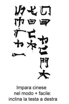 Provate ad imparere il cinese. Seguite le istruzioni