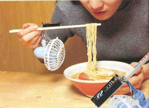 Invezione per raffreddare gli spaghetti bollenti