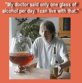 Il dottore mia ha detto un solo bicchiere al giorno