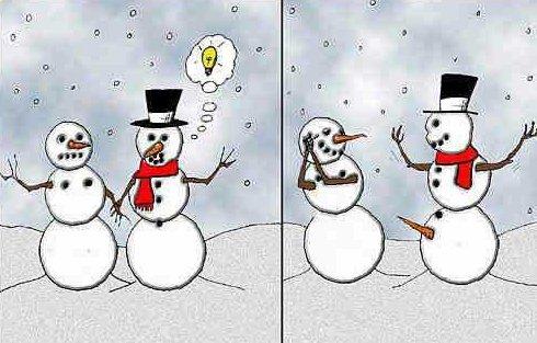 Pupazzi di neve felici