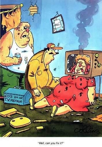 Si può riparare la TV?