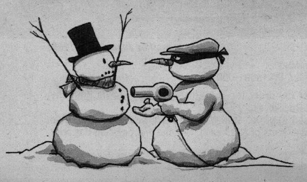 Ricatto tra pupazzi di neve