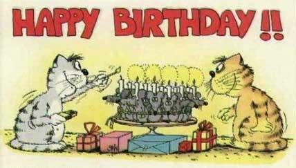 Festa di compleanno tra gatti … che bella la torta