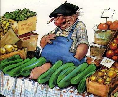 Le zucchine del fruttivendolo
